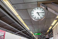 Time is passing clock shows in sky train station Stock Photography