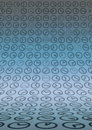 Time pattern on blue gradient background Stock Photos