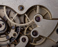 Time picture of a vintage clock mechanism Royalty Free Stock Photo