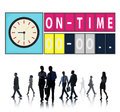 On time punctual efficiency organization management concept Stock Image