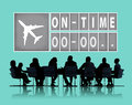 On time punctual efficiency organization management concept Royalty Free Stock Photography