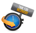 Time for recovery concept illustration design over white Stock Image