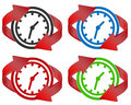 Time renew vector illustration of symbol renewal Royalty Free Stock Photography