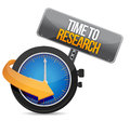 Time for research illustration design over a white background Royalty Free Stock Photo