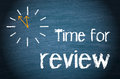 Time for Review Words and Clock Royalty Free Stock Photo