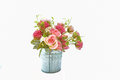 The time of romance ,Soft focus a bouquet of rosesin a flower pot Royalty Free Stock Photo