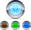 Time round button. Stock Images