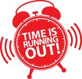 Time is running out alarm clock icon, vector illustration Royalty Free Stock Photo