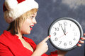 Time is running out hurry to beat the christmas holidays Royalty Free Stock Photo