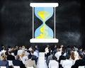 Time Sand Glass Hour Glass Finance Saving Concept Royalty Free Stock Photo