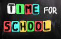 Time for school concept handwritten with chalk on a blackboard Royalty Free Stock Image