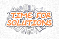 Time For Solutions - Cartoon Orange Text. Business Concept.
