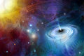 Time Space Black Hole Royalty Free Stock Photo