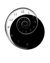 Time spiral clock winds down abstract Stock Photos