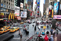Time square in manhattan new york ny oct general view of on october it s one of the world s busiest pedestrian intersections and a Royalty Free Stock Photography