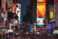 A famous Time Square in the New York City by night Royalty Free Stock Photo