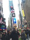 Time square take it in beauty is in the eye of the beholder Royalty Free Stock Photos