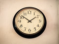 Time stopped at ten to two.Old clock. Royalty Free Stock Photo
