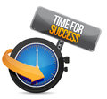 Time for success illustration design over a white background Royalty Free Stock Image