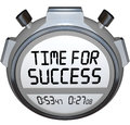 Time for Success Words Stopwatch Timer Win Race Royalty Free Stock Images