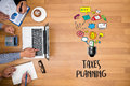 Time for Taxes Planning Money Financial Accounting Taxation and Royalty Free Stock Photo