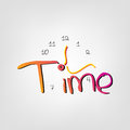 It is time to background with words and hands Royalty Free Stock Images