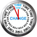 Time to change d illustration of clock with Royalty Free Stock Image