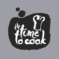 Time To Cook in a Speech Bubble Royalty Free Stock Photo