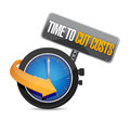 Time to cut cost concept illustration design over white Royalty Free Stock Photography