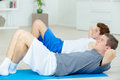 Time to do sit-ups Royalty Free Stock Photo