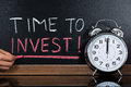 Time To Invest Concept Written On Blackboard Royalty Free Stock Photo