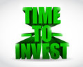 Time to invest text illustration design over white Royalty Free Stock Photo