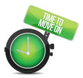 TIme to Move On concept Royalty Free Stock Photo