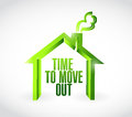 Time to move out message illustration design over a white background Stock Image