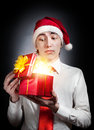 Time to open presents Stock Images