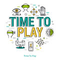 Time to Play - Line Concept Royalty Free Stock Photo