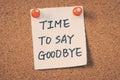 A dire addio