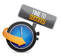 Time to succeed illustration design over a white background Stock Images