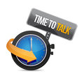 Time to talk watch illustration design concept over white Royalty Free Stock Photography