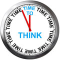 Time to think on a clock Royalty Free Stock Photography