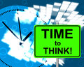 Time to think represents at present and consider meaning the moment now Royalty Free Stock Images