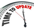 Time to Update Words Clock Renovate Improvement Royalty Free Stock Photo