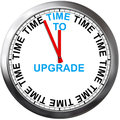 Time to upgrade apgrade on a clock Stock Images