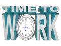Time to Work Clock Countdown to Working Deadline Royalty Free Stock Images
