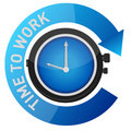 Time to work concept illustration design Stock Photography