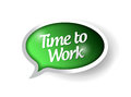 Time to work message bubble illustration Royalty Free Stock Photo