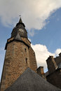 Time tower blue sky dinan city Royalty Free Stock Image