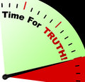 Time For Truth Message Means Honest And True Royalty Free Stock Image