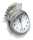 Time value of money concept Royalty Free Stock Image