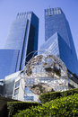 Time warner center globe in new york city Stock Photography